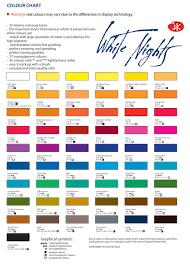 Winsor Newton Professional Watercolor Chart Pdf