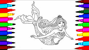 Small Picture Barbie Dreamtopia Coloring Pages l Barbie Mermaid Drawing Pages to