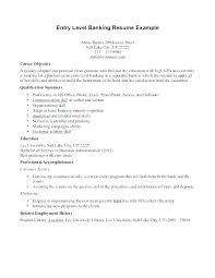 Objectives For Resumes Custom Objectives Resume For Ojt Example Of In A Entry Level Objective Bank