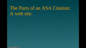Asa Citation Help Research Guides At Madison College Madison