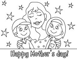 Disegno Felice Festa Della Mamma Con Bambini Disegni Da Colorare E