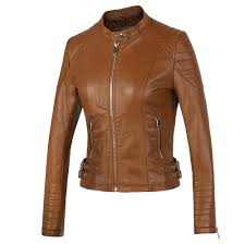 new 2018 women s winter autumn brown er motorcycle leather jackets