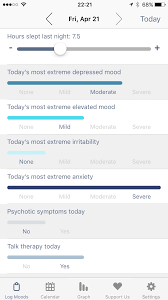 Mood Tracker By Emoods Mobile Journal Reporting For Bipolar