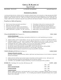 Sample Chemistry Resume Best Of Kamilar Resume