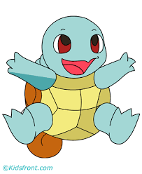 Small Picture Squirtle Coloring Pages for Kids to Color and Print