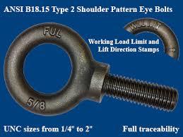 Eye Bolt Size Chart Pdf Fuller Fasteners