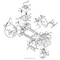troy bilt 13wn77ks011 pony 2013 parts diagram for wiring schematic frame amp