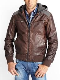 ll womens hooded faux leather jacket various