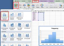 how to make a histogram in excel create a histogram graph in excel