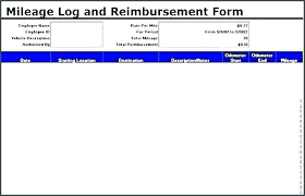 Car Mileage Claim Form Free Mileage Log Template Printable Mileage Log Templates