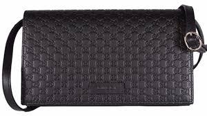 gucci 466507. new gucci 466507 black leather micro gg guccissima crossbody wallet bag purse c