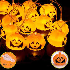 Outdoor Skull Lights 2019 10 Led Hanging Halloween Decor Pumpkins Ghost Spider Skull Led String Lights Lanterns Lamp For Diy Home Outdoor Party Supplies 2m From