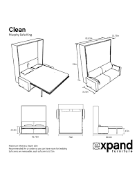 murphysofa clean king size murphy bed with sofa expand furniture folding tables smarter wall beds space savers