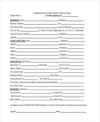 Commercial Lease Application Form Free South Carolina Commercial ...