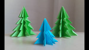 Christmas Tree In Chart Paper 3d Paper Christmas Tree How To Make A 3d Paper Xmas Tree Diy Tutorial 2015