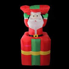 Light Up Pop Up Santa Christmas Outdoor Decoration Lighted Inflatable Pop Up Santa