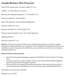 Bakery Business Proposal Sample