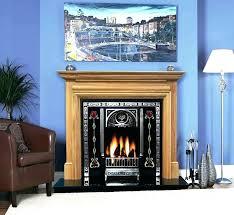 fireplace facing kit wood
