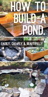 how to build a pond easily ly and
