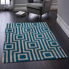 geo blue geometric rug by rug guru 1