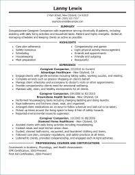 Caregiver Resume Skills Cool Caregiver Resume Skills Luxury Caregiver Resume Examples Atopetioa