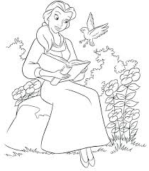 Free Coloring Pages Princess Belle Guccisaleauinfo