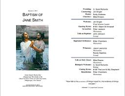 Church Program Template Lds Baptism Program Template