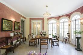 the berglund dining room has portuguese stone floors the antique dining set was bought in