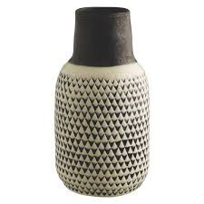 trina black and white patterned ceramic vase  buy now at habitat uk