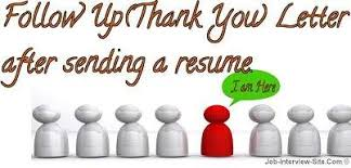 Thank You Resume Letters Follow Up Letter After Sending A Resume Thank You Letter Samples