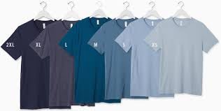 Bella Tee Size Chart How To Choose T Shirt Size Choosing The Right Size T Shirt