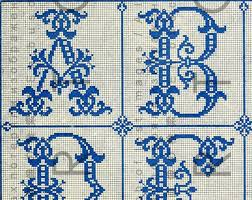 French Cross Stitch Charts Antique French Cross Stitch Chart Alphabet 1800s Gothic