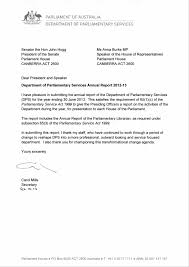 Letters Of Transmittal Letters Of Transmittal Parliament Of Australia