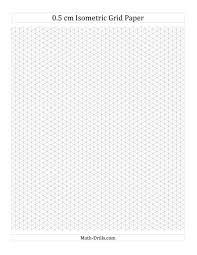 The 0 5 Cm Isometric Grid Paper Portrait A Math