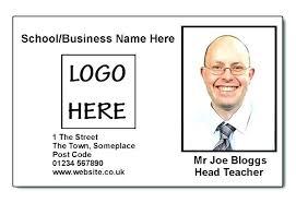 Teacher Id Card Template Portrait Id Card Template Teacher School