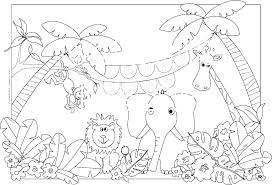 Coloring Pages Safari Animals Free Psubarstoolcom