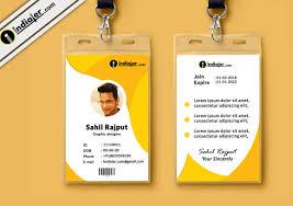 Identity Card Design Multipurpose Corporate Office Id Card Free Psd Template Indiater