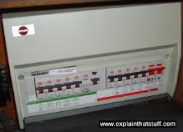 modern fuse box how do surge protectors and fuses work explain that stuff a modern fusebox rcd trip switches