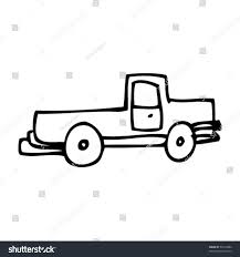 Childs Drawing Pickup Truck Stock Vector (Royalty Free) 53214082 ...