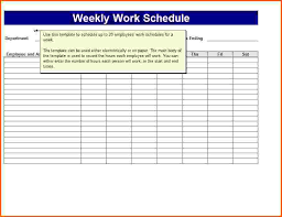 weekly schedule template with hours free employee weekly schedule template kays makehauk co
