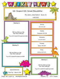 Teachers Newsletter Templates Custom Classroom Newsletter Printable Sample Home