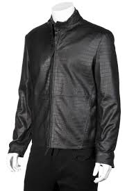 preview armani collezioni leather jacket embossed c