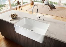 White Apron Kitchen Sink Decorating Rectangle White Apron Sink Plus Faucet Plus White