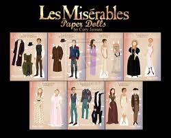 the motherlode of printable paper dolls  printable les miserables paper dolls by cory jensen