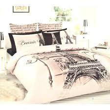eiffel tower bedding tower beige brown black double full quilt cover set 2 eiffel tower bedding