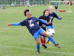 Preston - Keisha Clarke from St Andrew's takes a shot - Lancashire School  Games