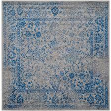 safavieh adirondack grey blue 6 ft x 6 ft square area rug