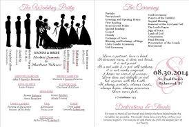 Wedding Programs Template Free Wedding Program Templates