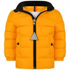 Moncler Baby Boys Yellow Down Padded Clans Jacket ...
