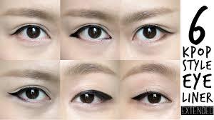 6 k pop inspired korean style eyeliners tutorial